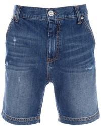 Pantalones cortos vaqueros azules de Frankie Morello