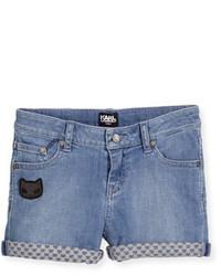 Pantalones cortos vaqueros azules de Karl Lagerfeld