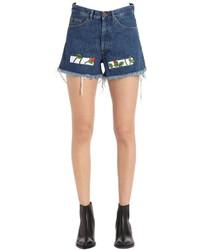 Pantalones cortos vaqueros azules de Off-White