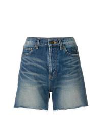 Pantalones cortos vaqueros azules de Saint Laurent
