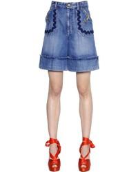 Pantalones cortos vaqueros azules de Sonia Rykiel