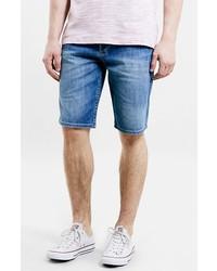 Pantalones cortos vaqueros azules de Topman