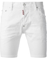 Pantalones cortos vaqueros blancos