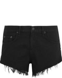 Pantalones cortos vaqueros con tachuelas negros de Rag & Bone