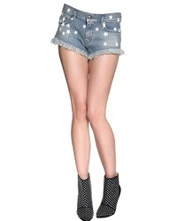 Pantalones cortos vaqueros de estrellas azules de Diesel