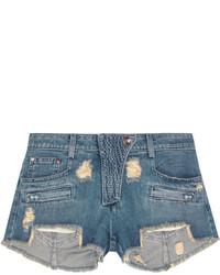 Pantalones cortos vaqueros desgastados azules de Balmain