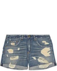 Pantalones cortos vaqueros desgastados azules de Rag and Bone