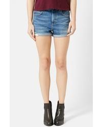 Pantalones cortos vaqueros desgastados azules de Topshop