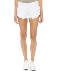 Pantalones Cortos Vaqueros Desgastados Blancos de 3x1