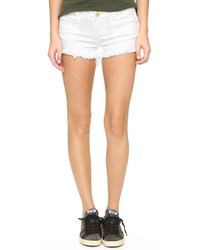 Pantalones Cortos Vaqueros Desgastados Blancos de Blank