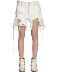 Pantalones cortos vaqueros desgastados blancos de Faith Connexion
