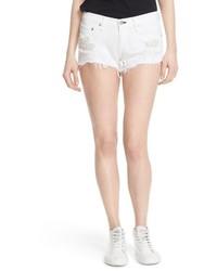 Pantalones cortos vaqueros desgastados blancos de Rag & Bone