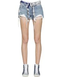 Pantalones cortos vaqueros desgastados celestes de SteveJ & YoniP