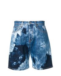 Pantalones cortos vaqueros efecto teñido anudado azules de MSGM