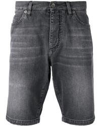 Pantalones cortos vaqueros en gris oscuro
