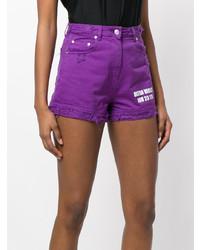 Pantalones cortos vaqueros morado de MSGM