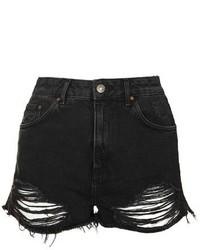 Pantalones Cortos Vaqueros Negros de Topshop