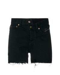 Pantalones cortos vaqueros negros de Saint Laurent