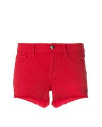 Pantalones cortos vaqueros rojos de Frame Denim