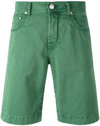 Pantalones cortos vaqueros verdes de Jacob Cohen