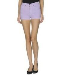 Pantalones cortos vaqueros violeta claro