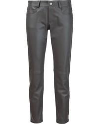 Pantalones de cuero en gris oscuro de Joseph