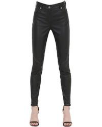Pantalones de Cuero Negros de Givenchy