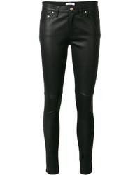 Pantalones de cuero negros de IRO
