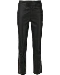 Pantalones de cuero negros de Isabel Marant