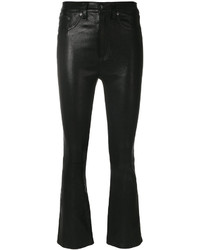 Pantalones de cuero negros de Rag & Bone