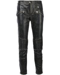 Pantalones de cuero negros de RED Valentino