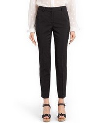 Pantalones de Lana Estampados Negros de Dolce & Gabbana