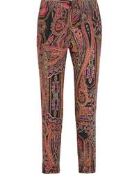 Pantalones de lana estampados rosados de Etro