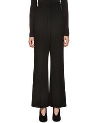 Pantalones de lana negros de Lanvin