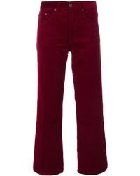 Pantalones de pana burdeos de Marc Jacobs