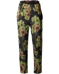 Pantalones de Pijama de Flores Negros de Isabel Marant