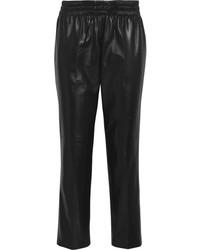 Pantalones de pijama de cuero negros