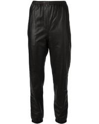 Pantalones de pijama de cuero negros de 3.1 Phillip Lim