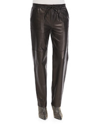 Pantalones de Pijama de Cuero Negros de J Brand