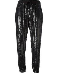 Pantalones de Pijama de Lentejuelas Negros de P.A.R.O.S.H.