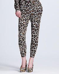 Pantalones de pijama de leopardo marrónes de Stella McCartney