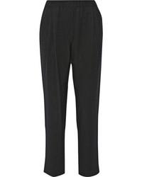 Pantalones de pijama de seda negros de 3.1 Phillip Lim