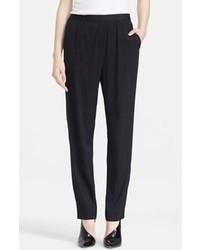 Pantalones de pijama de seda negros de Alexander Wang