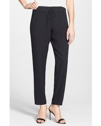 Pantalones de Pijama de Seda Negros de Bailey 44