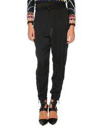 Pantalones de pijama de seda negros de Emilio Pucci