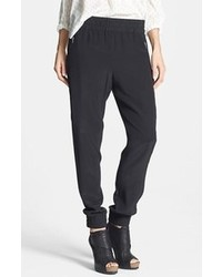 Pantalones de pijama de seda negros de Marc by Marc Jacobs