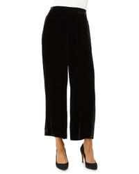 Pantalones de pijama de terciopelo negros de Eileen Fisher
