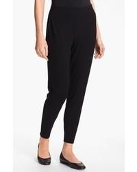 Pantalones de pijama negros de Eileen Fisher