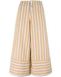 Pantalones de rayas horizontales marrón claro de See by Chloe