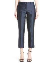 Pantalones de Seda Azul Marino de Michael Kors